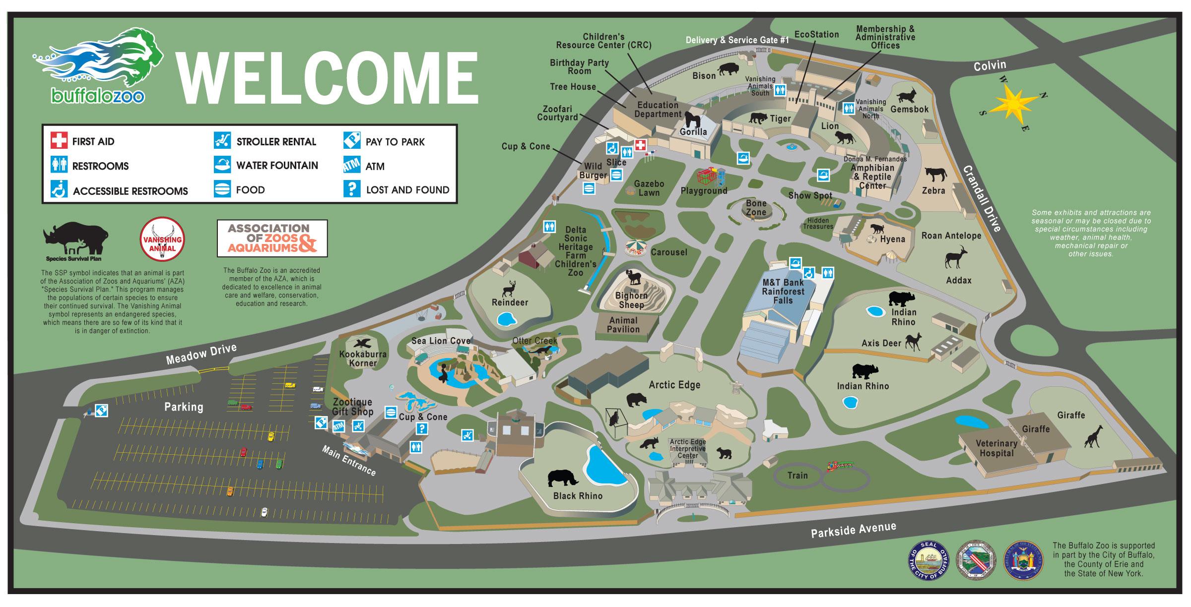 Buffalo Zoo Map